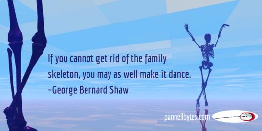 skeleton; dance, george bernard shaw; pannellbytes; nonfiction; mouse; 3000 Miles To Eternity