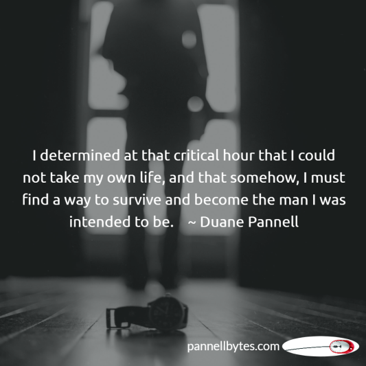 determination, survive, man, critical hour, Recovering Me, Duane Pannell, 3,000 Miles To Eternity